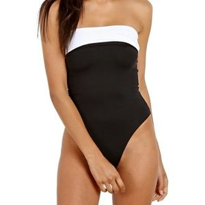 L Space Mustang Black White Reversible One Piece